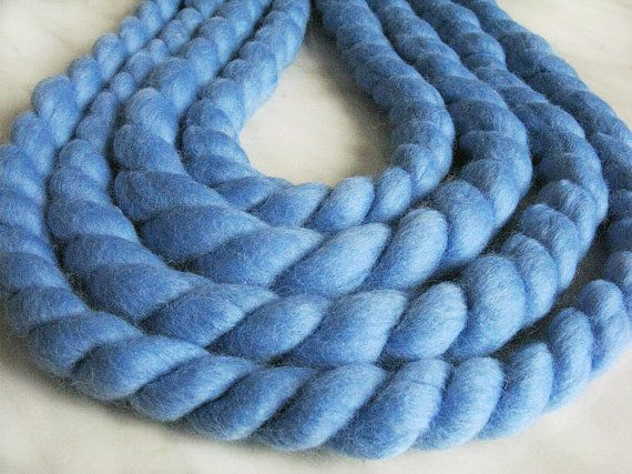 MEGA Great oversized Yarn for Chunky Knit Wear, extreme knitting , necklace, big cowl, rugs, blanket for newborn photo, interior design Specs:  Colors: