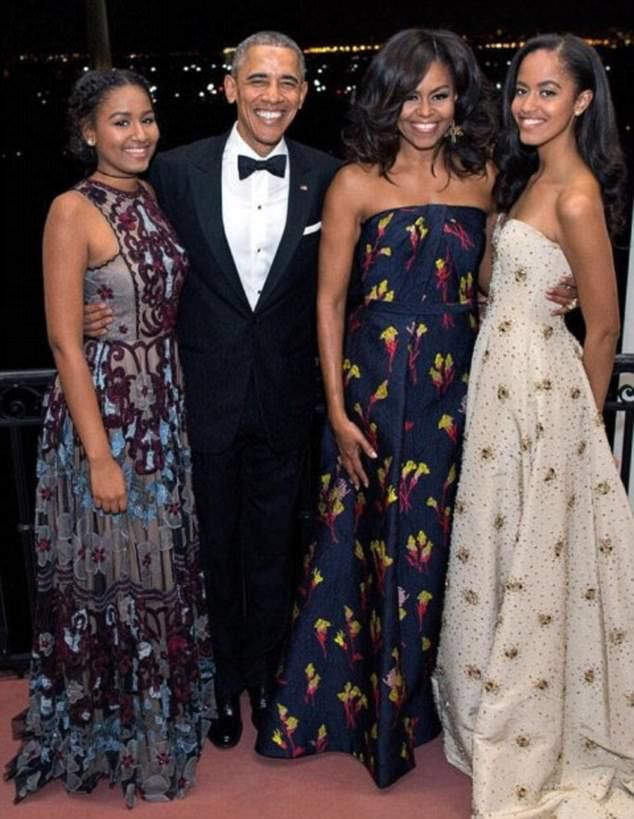 The Obamas host Canadian Prime Minister Justin Trudeau and his wife Sophie Gregoire for a State Dinner on March 10, 2016 in Washington DC 44th President BarackObama, First Lady Michelle Obama & their beautiful daughters Sasha & Malia