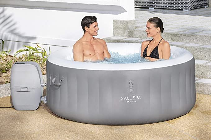 Bestway 60038e St Lucia Saluspa St Lucia Airjet Inflatable Hot Tub 67 X 26 Gray Reviews Best Inflatable Hot Tub Inflatable Hot Tubs Hot Tub Reviews