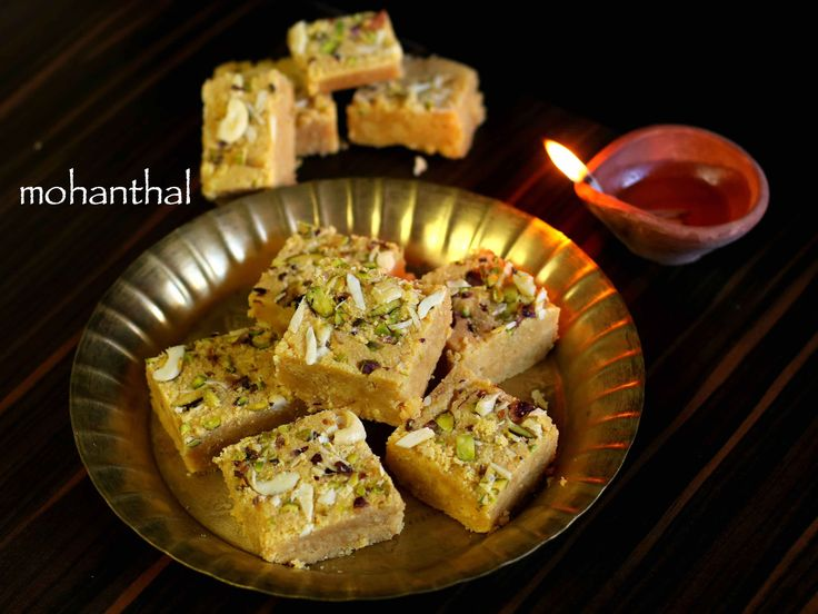how to make traditional mohanthal recipe with step by step photo/video. besan based fudge or dessert or indian sweet recipe from gujarati, rajasthani cusine
