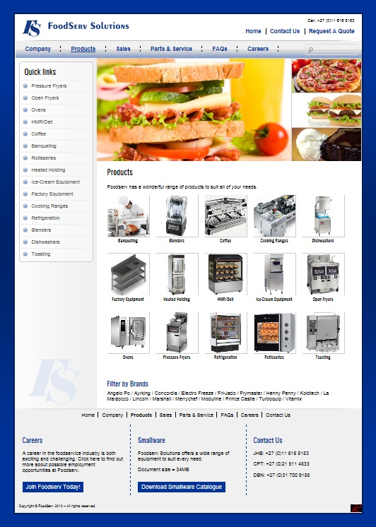 FoodServ CMS product website