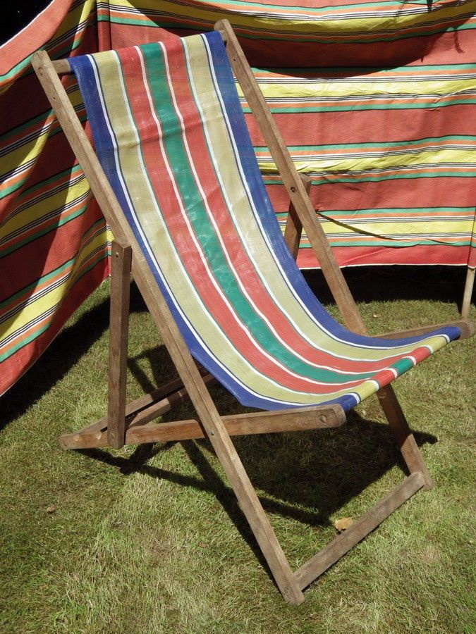 Groovy Vintage Old Wooden Beach Garden Deck Chair In 2019 Deck Ncnpc Chair Design For Home Ncnpcorg