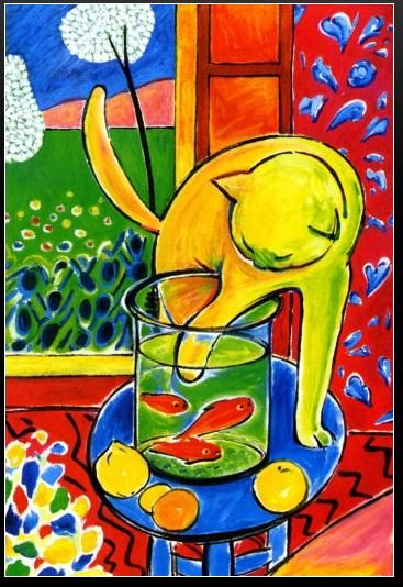 """Le chat aux poissons rouges"". Henri Matisse, ""Matisse's cat"" - GION #cats #painting #madeinitaly"