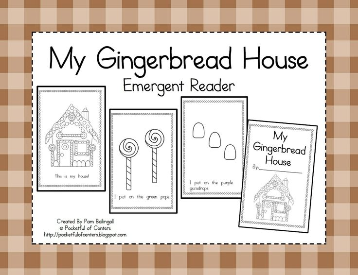 My Gingerbread House Emergent Reader $1.50