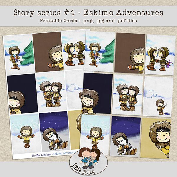SoMa Design Eskimo Adventures Cards