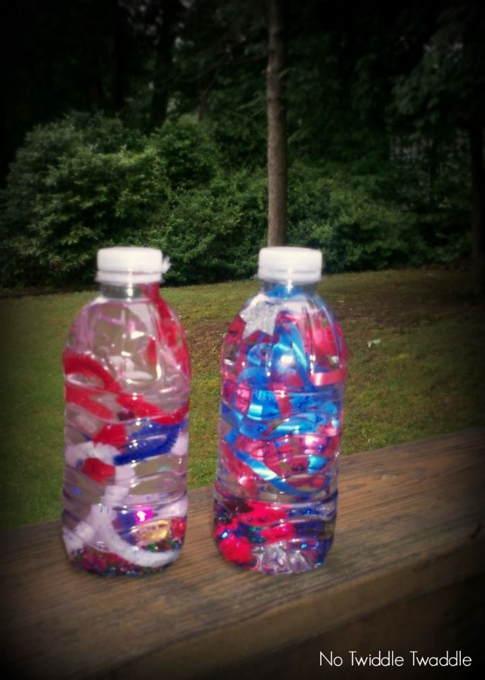 Sensory Bottle Fireworks Craft for Kids from No Twiddle Twaddle at B-InpiredMama.com