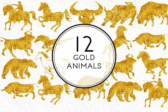 Gold Animals by Kaazuclip on Creative Market - bull,	horse,	bear,	man on horse,	horse rider,	gold,	gold horses,	gold horse, horse clipart,	horse graphics,	horse png, horses graphics,	horse running png, horse cowboy png,	horse riding clipart, ranch clipart,	ranch graphics,	farm graphics,	picture of spanish bulls, aggression