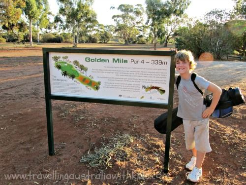 The Golden Mile Hole - one of the holes of the Nullabor Links golf course.  The longest golf course in the world.