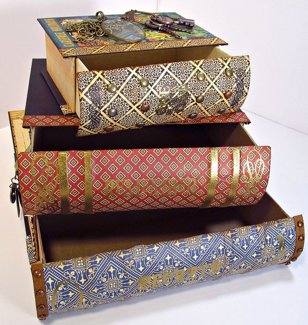 stacking book drawers tutorial