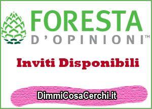 Inviti Foresta di Opinioni 2016