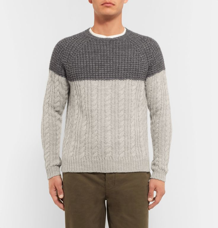 <a href='http://www.mrporter.com/mens/Designers/Barena'>Barena</a> has traditional Venetian craftsmanship running through its veins – the clothes reflect a slower pace and the importance of details, no matter how small. Spun with touches of wool and alpaca for unquestionable warmth and softness, this two-tone sweater is crafted using waffle and cable knits, reinforcing its insulating qualities.
