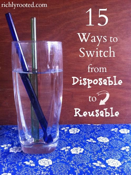 15 Ways to Switch from Disposable to Reusable - RichlyRooted.com
