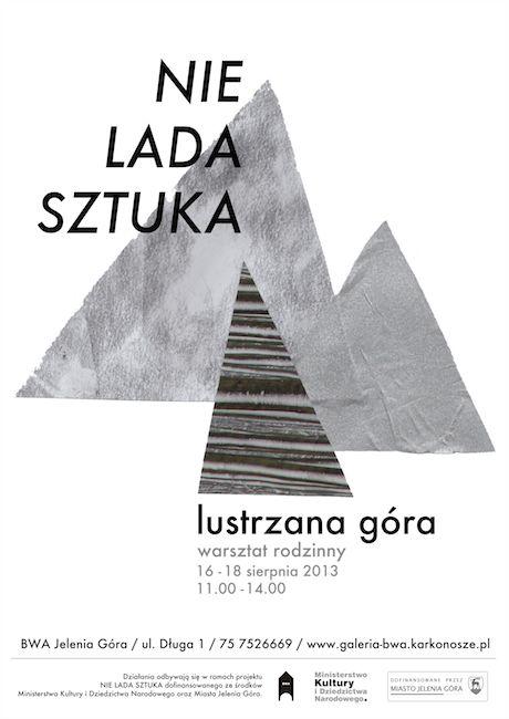 """Plakat do warsztatów """"Lustrzana góra"""" / Magdalena Kreis"""