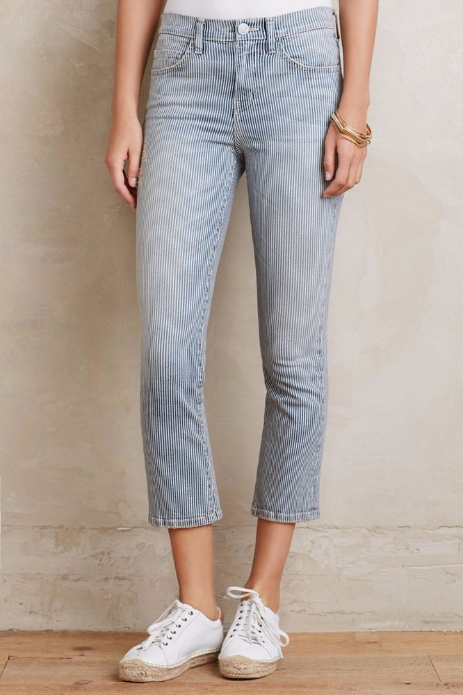 NWT CURRENT/ELLIOTT THE KICK DISTRESSED CROPPED BOOTCUT JEANS 26 #CurrentElliott #Skinny