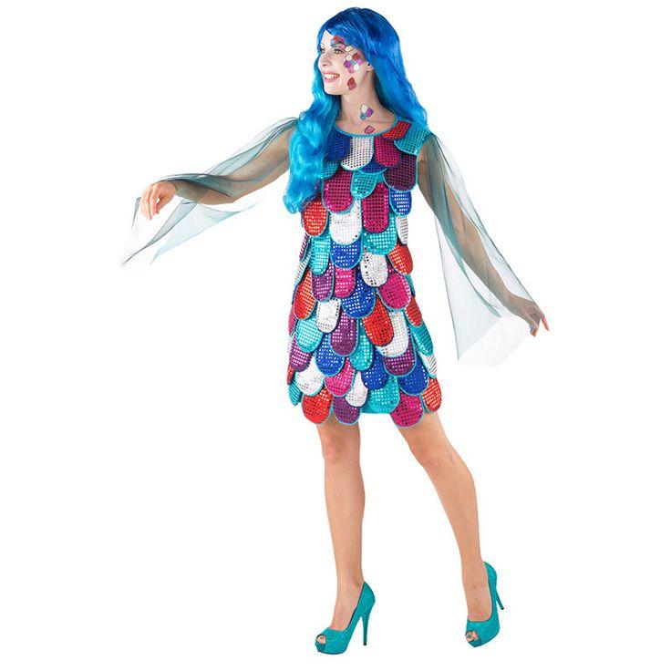 Fühlt Ihr Euch verkleidet imKarnevalskostüm auch wie ein Fisch im Wasser? Jetzt könnt Ihr sogar direkt als Faschings-Fisch gehen! Mit unserem glitzernden Schuppenkleidchen seid Ihr als Regenbogen