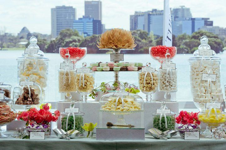 Wedding Dessert Bar - Our flower is used by many candy buffet companies to enhance their set up with an edible feature flower.