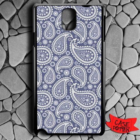 Blue Paisley Samsung Galaxy Note 3 Black Case