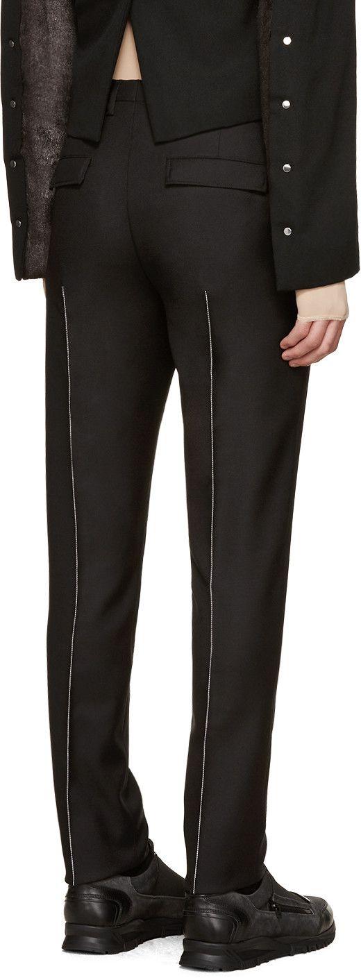 Maison Margiela - Black Contrast Seams Trousers