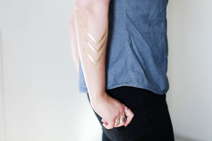 DIY Gold Temporary Tattoos @themerrythought