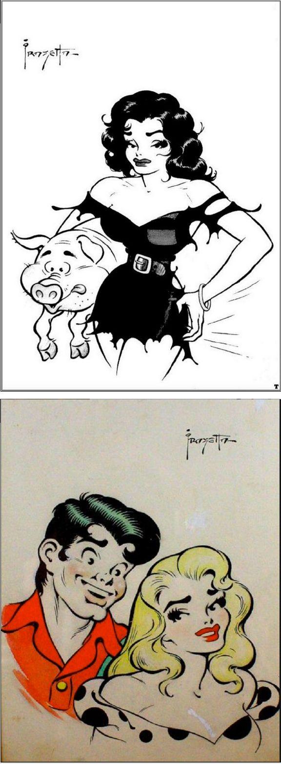 FRANK FRAZETTA - Li'l Abner Sketches