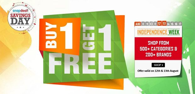 Style up! Buy 1 Get 1 Free on Men and Women Clothing & Accessories at Snapdeal Independence Day offer  #Snapdeal #Shopping #India #Deals #Offers #Fashion #IndependenceDay