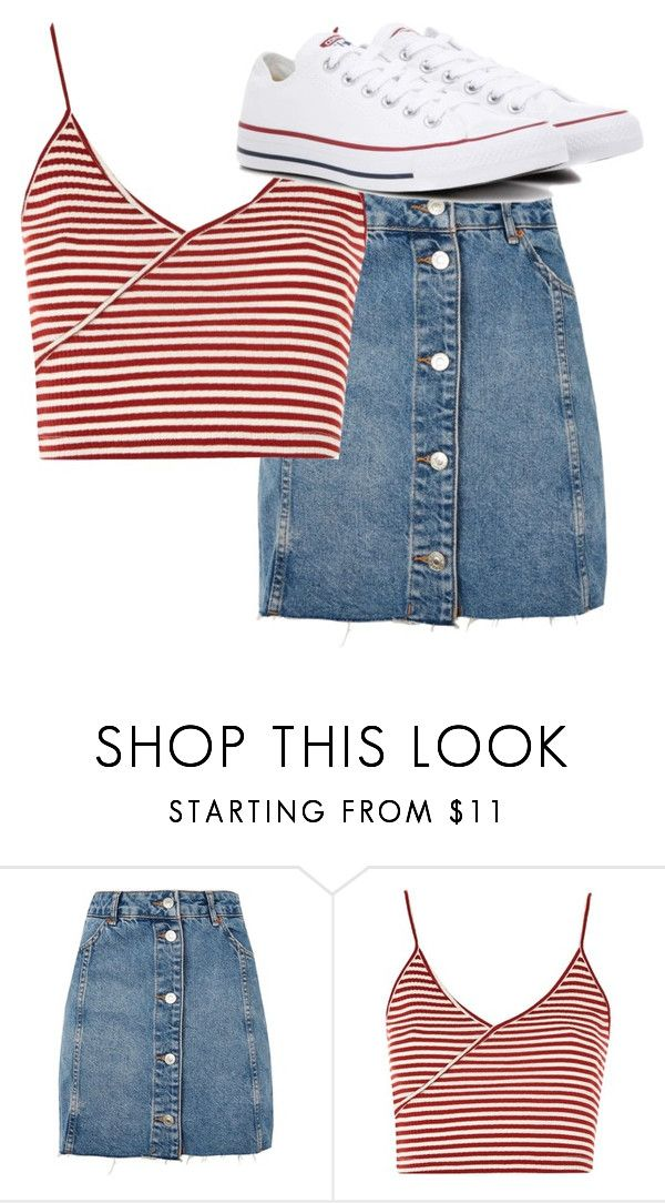 """""""summer lookin7"""" by kdkiddie on Polyvore featuring Topshop and Converse"""