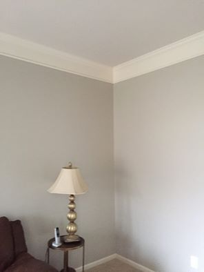 Sherwin williams sw colonnade gray walls with sw city loft for Sherwin williams ceiling paint colors