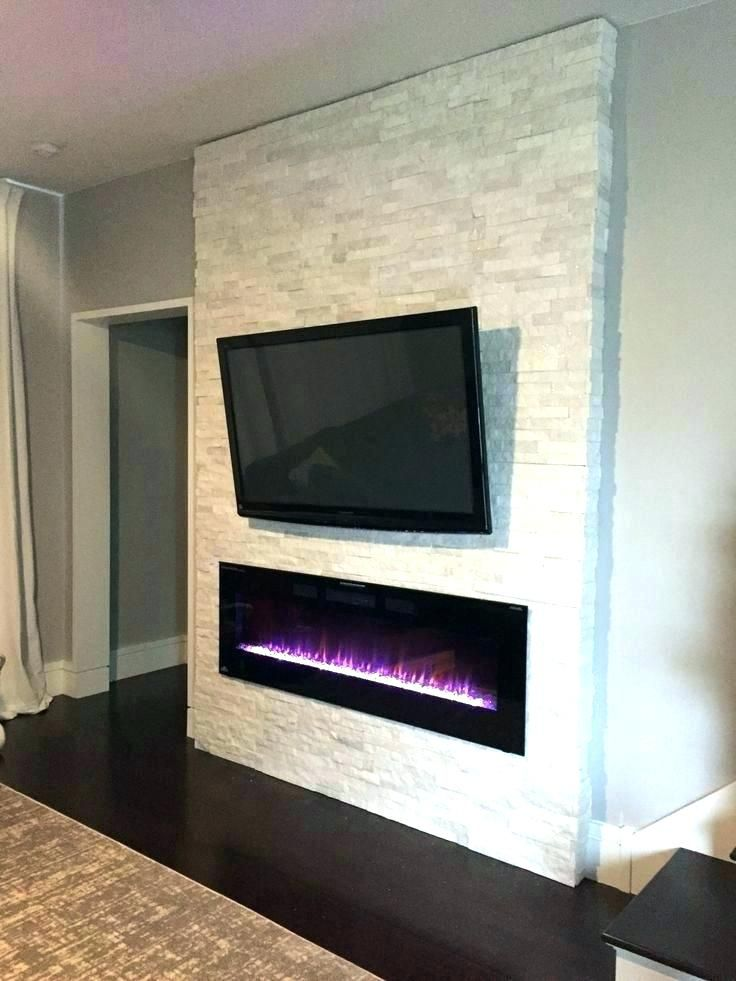 Image Result For Recessed Electric Fireplace With Tv Above Build