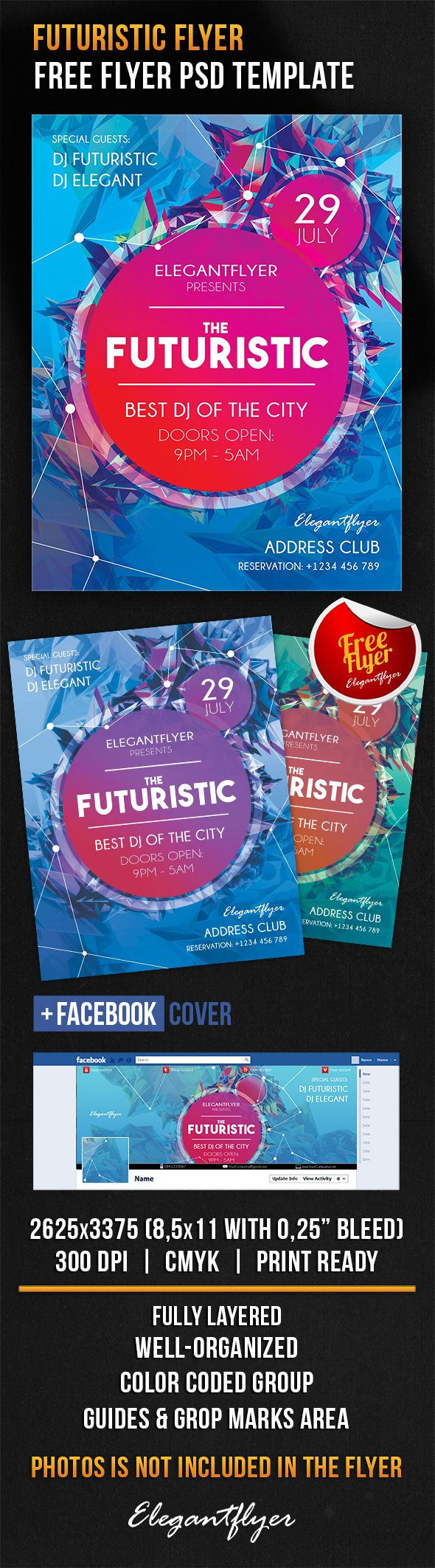 Futuristic Flyer – Free Flyer PSD Template + Facebook Cover https://www.elegantflyer.com/free-flyers/futuristic-flyer-free-flyer-psd-template-facebook-cover/