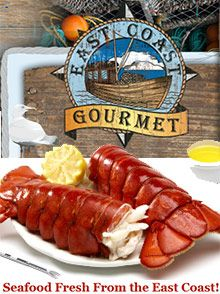 East Coast Gourmet  Enjoy fresh lobster & seafood delivery direct from New England