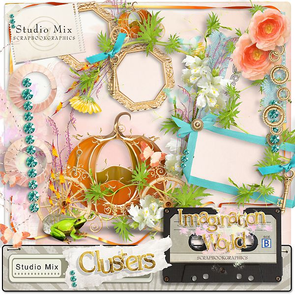 """Imagination World - Clusters""  http://shop.scrapbookgraphics.com/Studio-Mix-50-Imagination-World-Clusters.html"