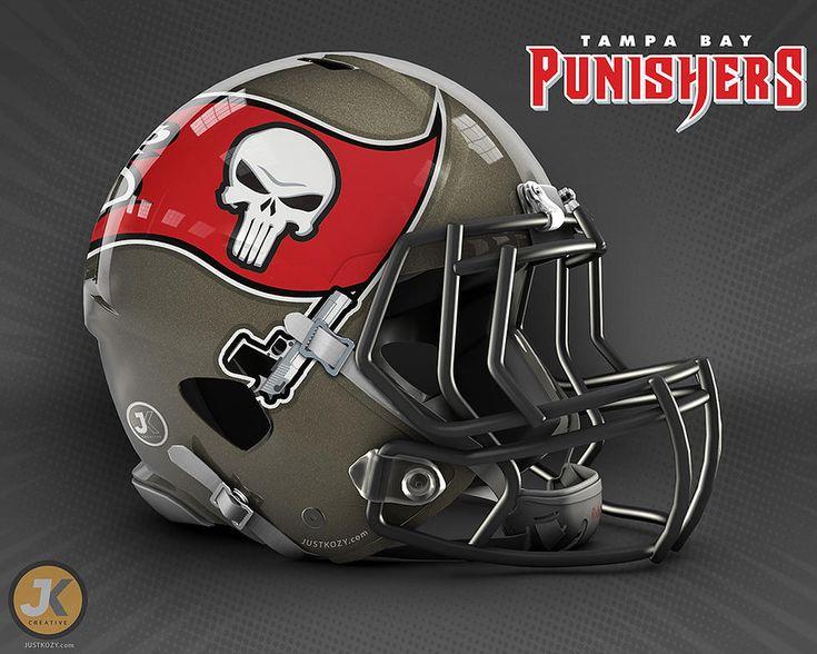 Designer reimagina os times da NFL e seus capacetes como se fossem heróis (e vilões) da Marvel