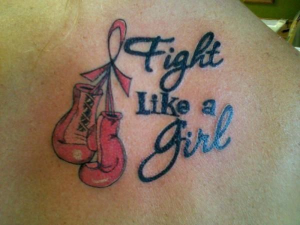 fight like a girl logo tattoos | looks like a sarcastic expression to describe the wild cat fights
