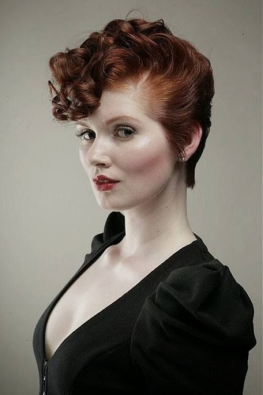 cute vintage short hairstyles for thin curly hair