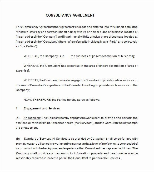 Marketing Consultant Contract Template In 2020 Contract Template
