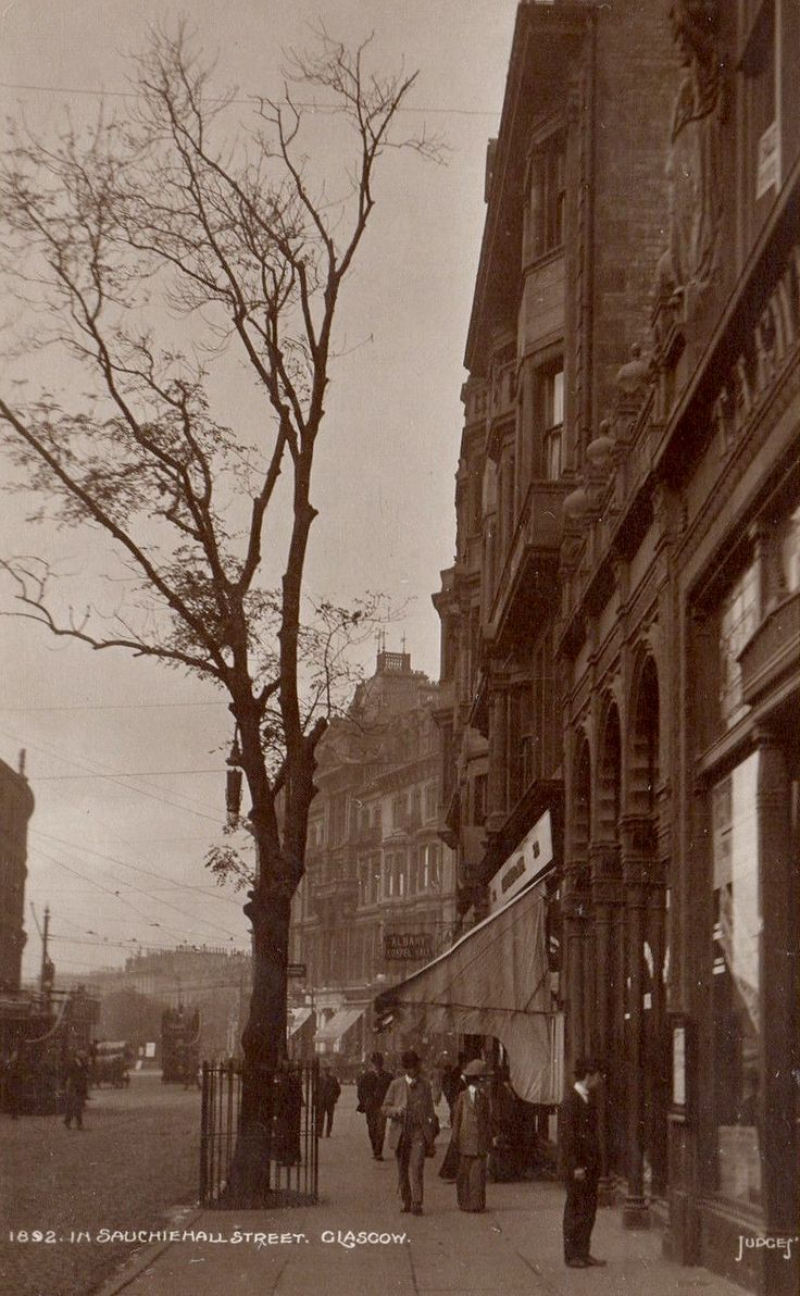 Sauchiehall Street at Charing Cross 1892