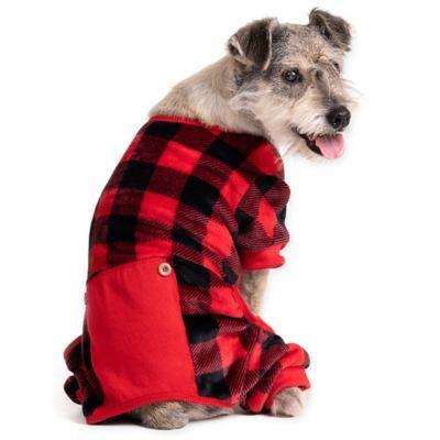 Pawslife Extra Large Buffalo Check Dog Pajamas Red Dog Pajamas