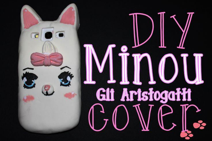 DIY - phone case -Cover Minou Gli Aristogatti in silicone