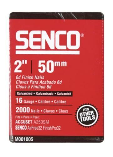 """Senco M001005 Straight Finish Galvanized Nail, 2"""""""