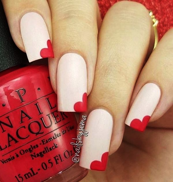 Valentine Nail Art Designs In 2020 Trendy Nagels Gemakkelijke Nagelkunst Eenvoudige Nagels