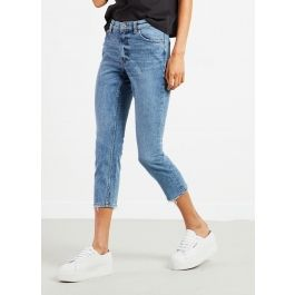 Revive jeans are a slim fit jean with a straight leg! A modern take on a classic authentic denim look! - Button and zip closure - Medium waist - Slim fit style - Cropped legs - Five pocket styling