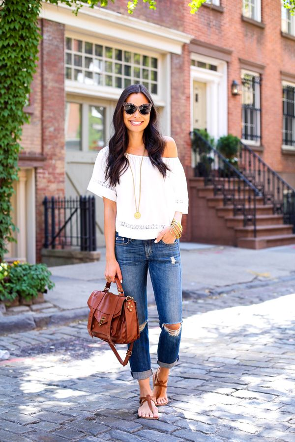 Street style tip of the day: Boyfriend jeans via @stylelist