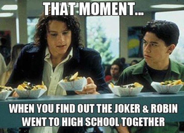 10 Things I Hate About You Meme: Batman Meme. Joseph Gordon Levitt, Heath Ledger.