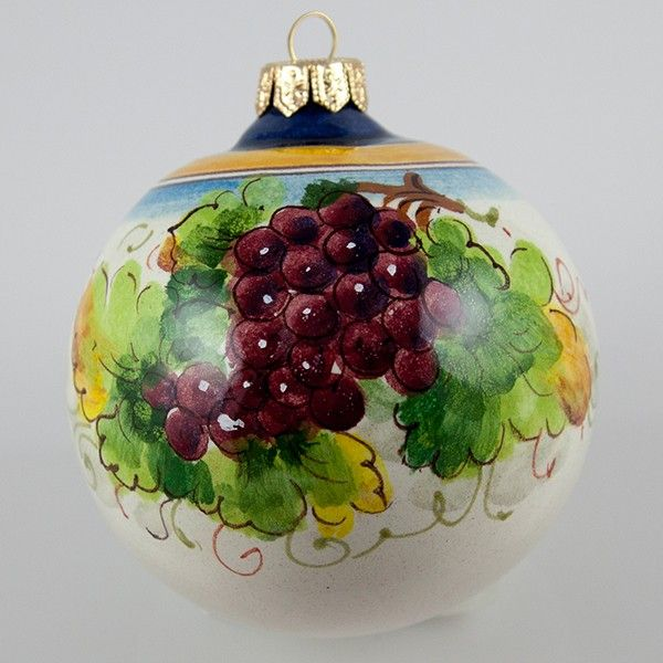 Ceramic Christmas ornament hand painted with grape. Click on the image to  learn more about the ornament   My turn to try this. - Ceramic Christmas Ornament Hand Painted With Grape. Click On The