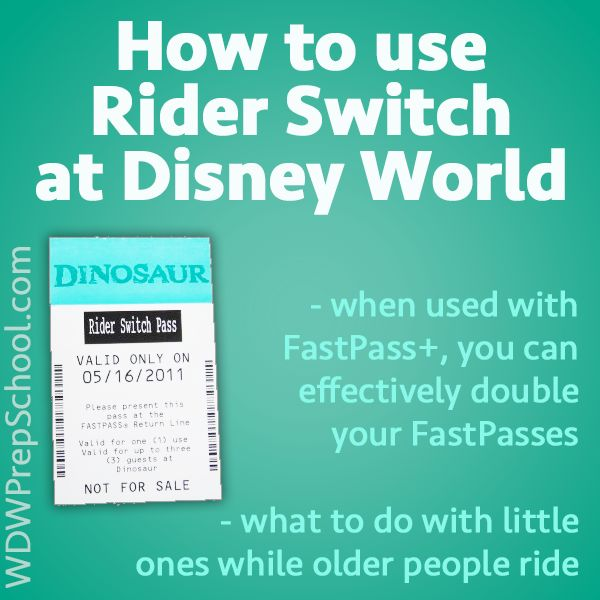 """Rider Switch (sometimes called """"Child Swap"""") is Disney's system that allows people with small children to take turns riding the bigger rides while the other person/people wait with the child."""
