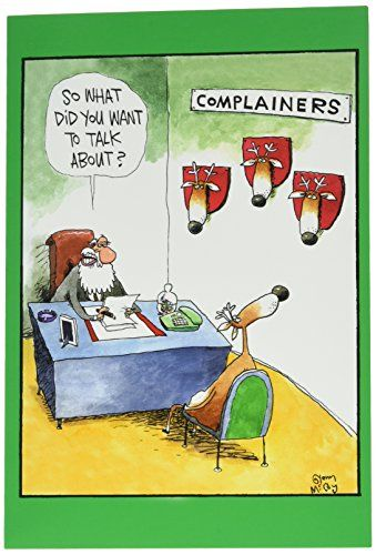 NobleWorks ''Complainers'' Funny Merry Christmas Greeting...