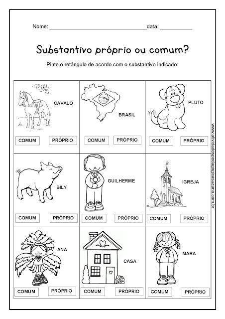 Substantivos - Atividades Adriana