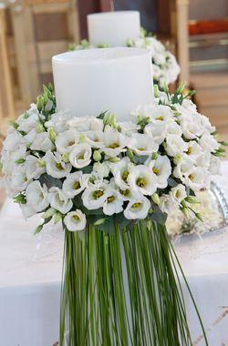 Διακόσμηση Γάμου |  Λαμπάδες γάμου με λυσιάνθους  - Wedding Tales - Ο γάμος των ονείρων σας!