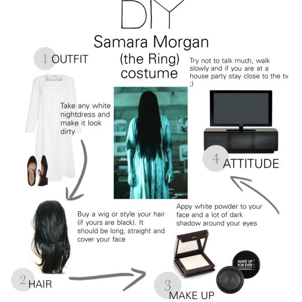 Samara Morgan (the ring) costume by ninde15 on Polyvore featuring John Lewis, Jouer, MAKE UP FOR EVER, BDI, Morgan, Halloween, contest and DIYHalloween