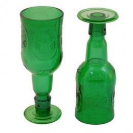 Make a glass from a beer bottle
